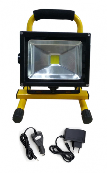20 Watt AKKU LED Außenstrahler - Flutlicht