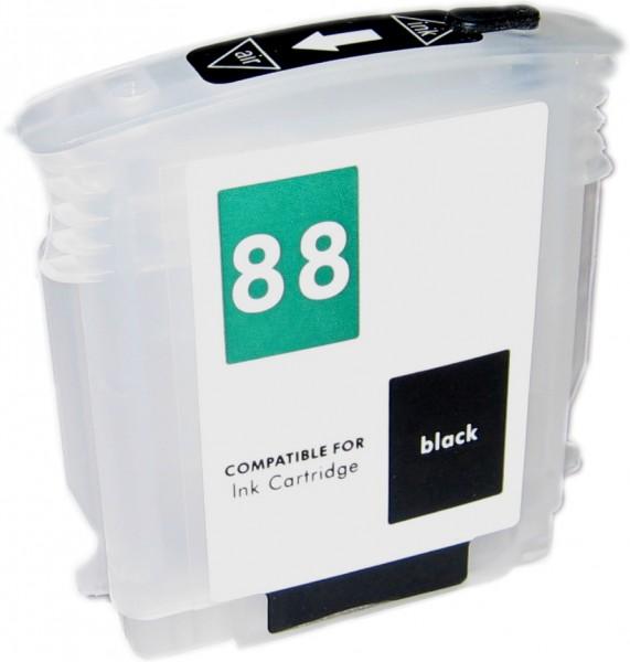 Wiederbefüllbare Quickfill Fill-In Patrone HP 88 black mit Auto Reset Chip