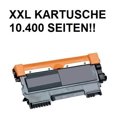 XXL Tonerkartusche wie Brother TN-2220 black, schwarz - 4-fache Kapazität für 10.400 Seiten