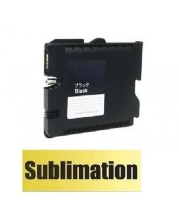 Druckerpatrone wie Ricoh GC 41 XL schwarz, black, 405761, 405765 mit SUBLIMATIONSTINTE