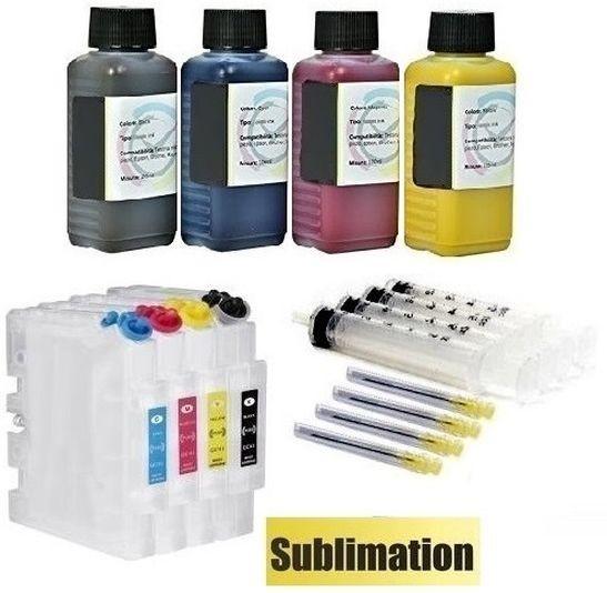 Wiederbefüllbare QUICKFILL-FILL-IN Patronen Ricoh GC-41 + 400 ml Dye-Sublimationstinten