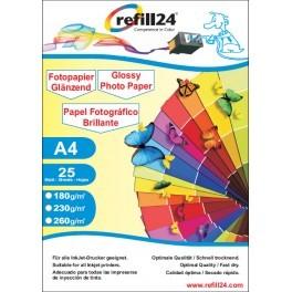 Refill24 Fotopapier Glossy Papier - 10x15 cm (50 Blatt) 230 g