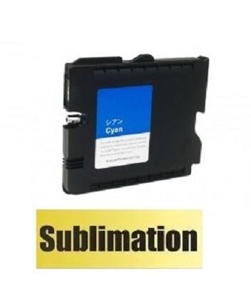 Druckerpatrone wie Ricoh GC-41 XL cyan, 405762, 405766 mit SUBLIMATIONSTINTE