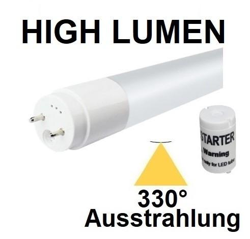 Mit TÜV + GS - 120 cm LED-Röhre T8 - G13, 18 Watt, 330° Ausstrahlung, Neutralweiß 4000K