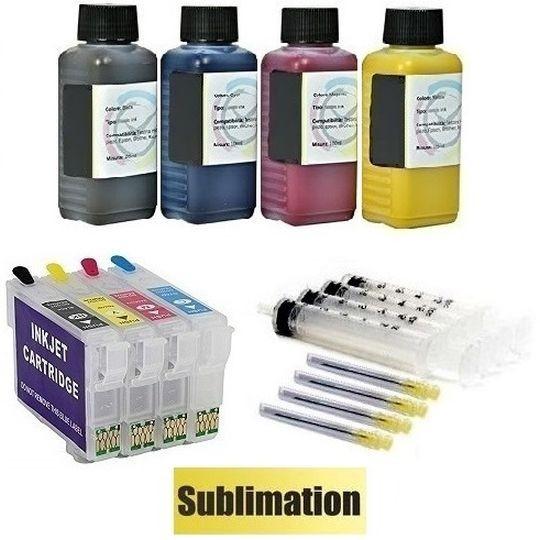 Wiederbefüllbare QUICKFILL-FILL-IN Patronen wie Epson 603, 603 XL + 400 ml Dye-Sublimationstinten