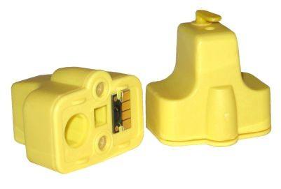 Wiederbefüllbare Quickfill Fill-In Patrone HP 363 yellow mit Auto Reset Chip