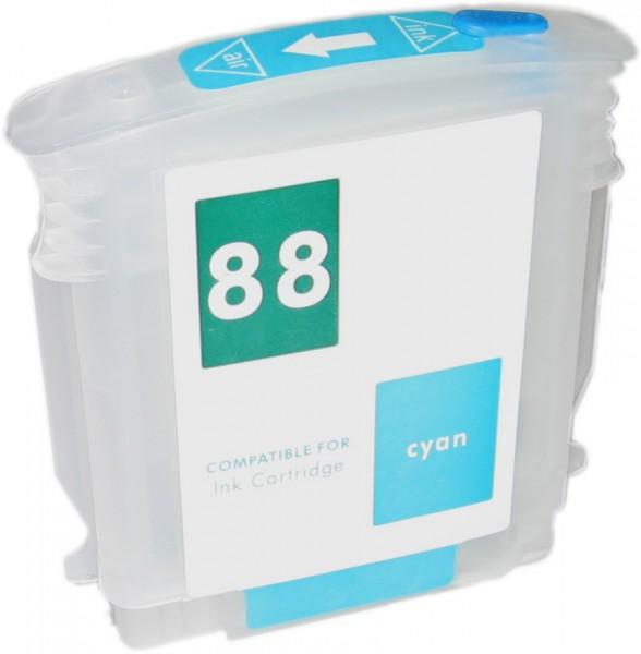 Wiederbefüllbare Quickfill Fill-In Patrone HP 88 cyan mit Auto Reset Chip