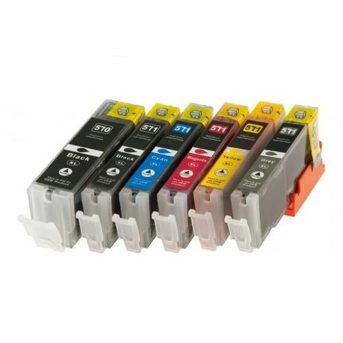 Druckerpatronen Set wie Canon PGI-570 XL & CLI-571 XL black, cyan, magenta, yellow, grey - 6 Patrone