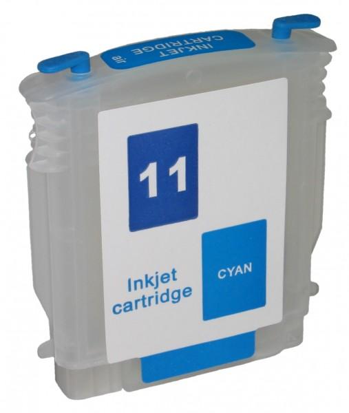 Wiederbefüllbare Quickfill Fill-In Patrone HP 11 cyan mit Auto Reset Chip