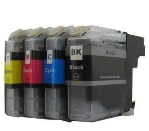 Druckerpatronen Set wie Brother LC-127 XL black, LC-125 XL, cyan, magenta, yellow