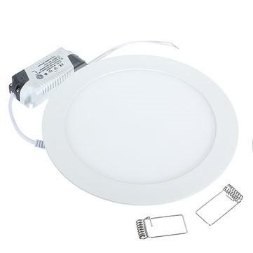 18 Watt LED Panel, 22 cm Durchmesser, Lichtfarbe warmweiß, Rahmen Weiss