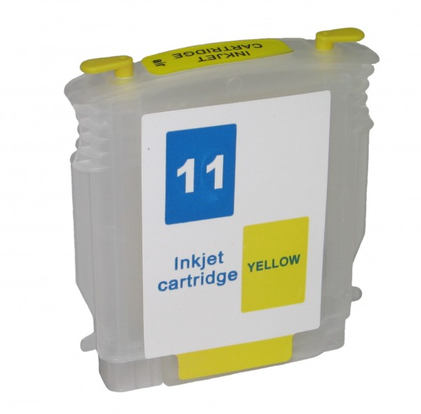 Wiederbefüllbare Quickfill Fill-In Patrone HP 11 yellow mit Auto Reset Chip