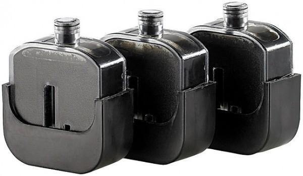 3 Nachfülltinten-Tanks für Easy Refill Befülladapter Canon PG-545 black und PG-545 black XL